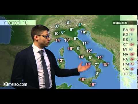 Previsioni meteo Video per martedi, 10 dicembre