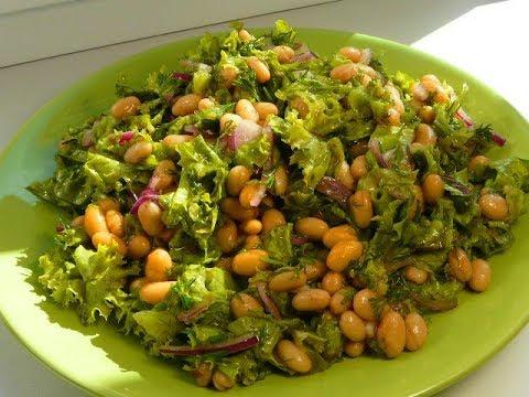 Салат из фасоли БЫСТРО ВКУСНО И НЕДОРОГО!/Вкусные рецепты простых салатов/Salad