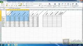Microsoft Excel 2010 - Calculs sommes et moyennes #E09