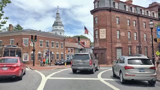 Driving Downtown - Annapolis 4K - USA