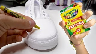 Custom CRAYON Shoes!! 🖍👟
