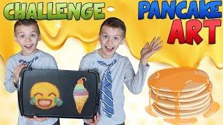 Twins Pancake Art Challenge