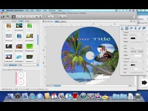 Mac CD/DVD Label Maker. CD. DVD Label Software for Mac OS X