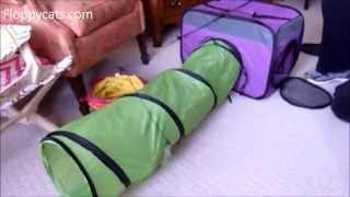 Expandable Cat Tunnel: Petmate Jackson Galaxy Toys Base Camp Carrier with Tunnel - Floppycats