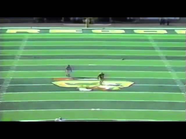 Oregon WR Derrick Deadwiler big punt return vs. UNLV 9-26-1992