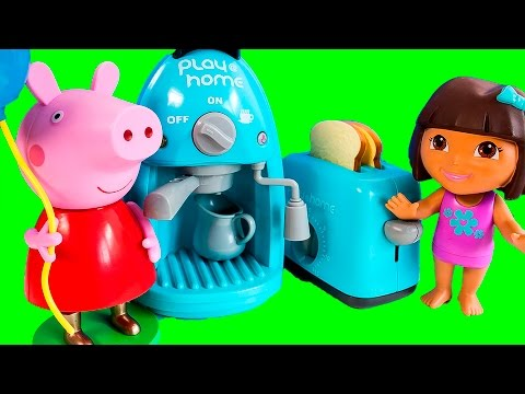 Peppa Pig & Dora The Explorer Cooking Set - Toy Review
