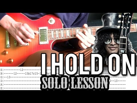 Slash Ft. Kid Rock - I Hold On Solo Guitar Lesson (With Tabs)
