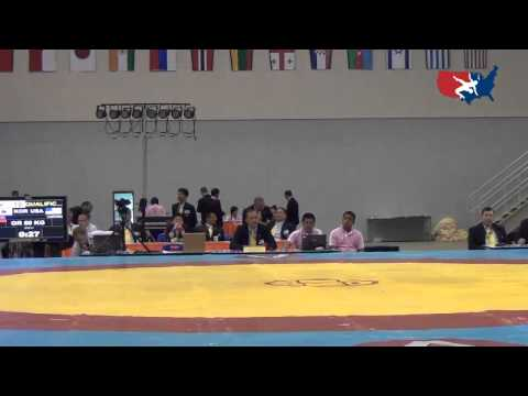 2012 Junior Worlds - GR 50kg - Isaiah Varona (USA) vs. Hyeok-Jin Jeon (KOR)