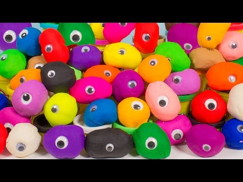 Play Doh Surprise Eggs Peppa Pig Mickey Mouse Disney Frozen Überraschung Eier Huevos Sorpresa video