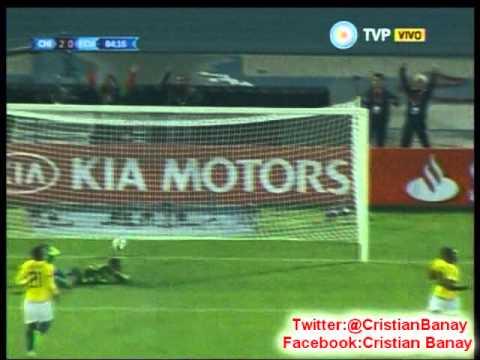 Chile 2 Ecuador 0 (ADN Radio Chile) Copa America 2015 Los goles
