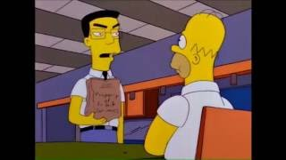 Homer eats Frank Grimes' lunch