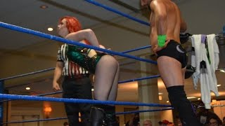 Taeler Hendrix Tries To Seduce Colin Delaney - Absolute Intense Wrestling