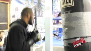 Julian Williams Works The Heavy Bag