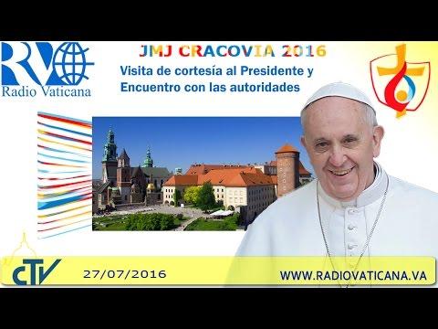 El papa Francisco en Polonia. Encuentro con las autoridades y la sociedad civil