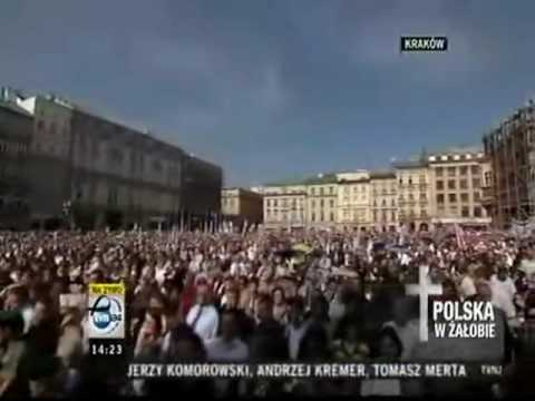 Kaczynski Funeral in Krakow - Part 1