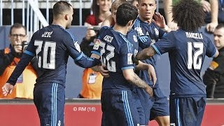 Malaga 1-1 Real Madrid Goles Audio Cope 22/02/16 LIGA BBVA