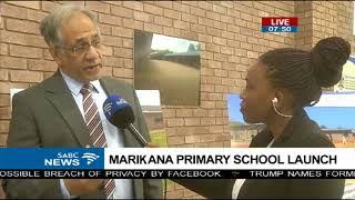 Marikana Primary School launch