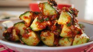 Корейская кухня: кимчи из огурцов или ои кимчи (오이김치)
