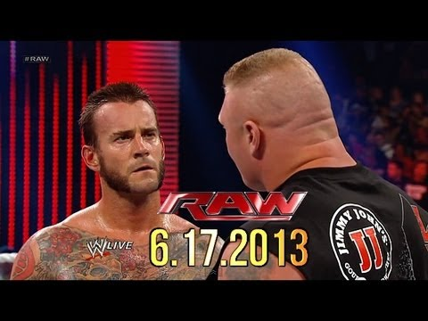 WWE RAW: 6.17.2013 - Brock Lesnar meets CM Punk in the ring