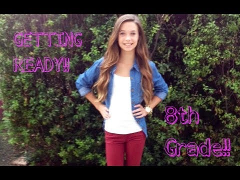 Getting Ready for My First Day of 8th Grade !