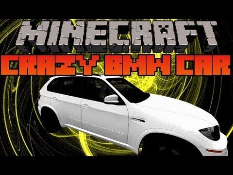 Minecraft Mod Showcase - Crazy BMW Car Mod -  Mod Review