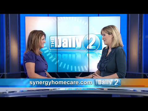 Stacy Fotos represents SYNERGY HomeCare on The Daily 2