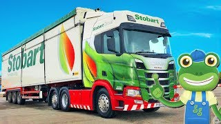 Gecko And The Big Truck   Lorry Videos For Children   Gecko's Real Vehicles