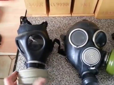 Gas mask review isrial. Russian. British
