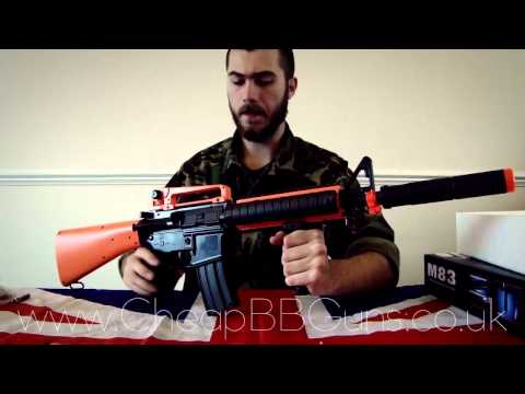 M83B2 Semi/Full Auto Electric Airsoft BB Gun Rifle Unboxing