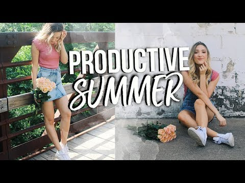THINGS TO DO THIS SUMMER! How To Be Productive, Working Out, Getting Healthy, & My Tips!