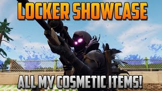 my locker show case on fortnite