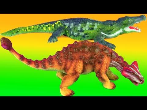 Dinosaur Fight ANKYLOSAURUS vs DEINOSUCHUS Battle T rex Jurassic รบ ไดโนเสาร 공룡 싸움 SuperFunReviews
