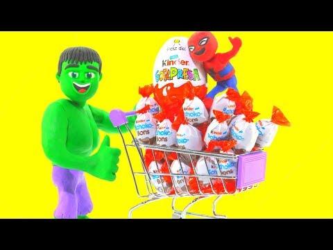 SUPERHERO DOES THE SHOPPING ❤ Superhero Babies Play Doh Cartoons For Kids