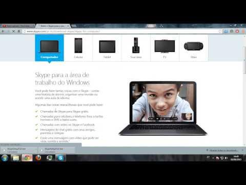 video aula mostrando como baixar e instalar  o skype 6.7