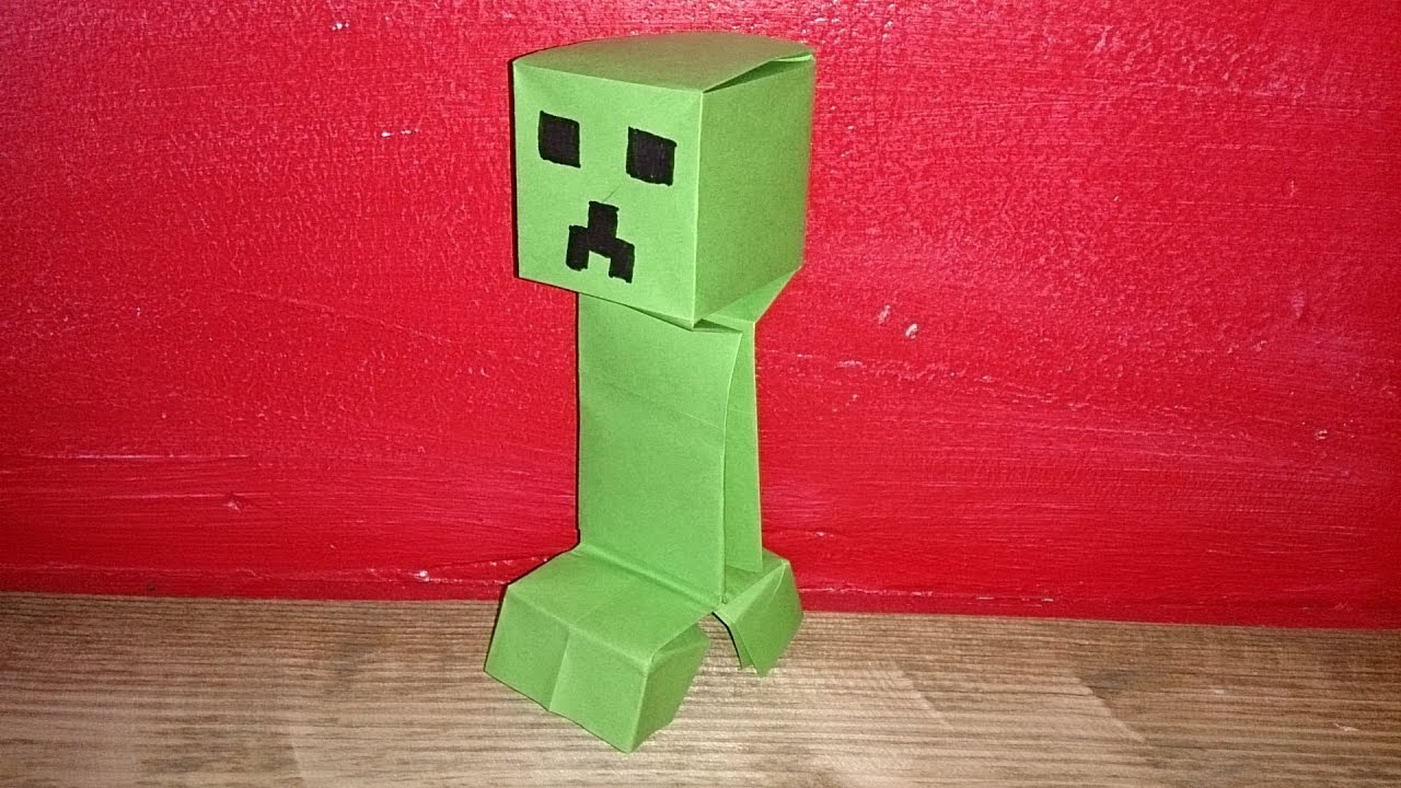 Special T Si >> Origami ! Un Creeper de Minecraft. - YouTube