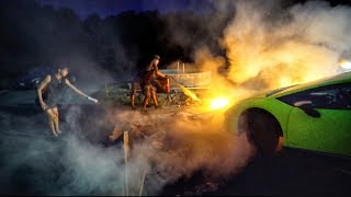 We took this too far... (CAR ON FIRE!)