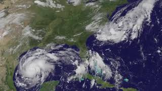 Satellite Animation Shows Hurricane Harvey Approaching Texas Coast
