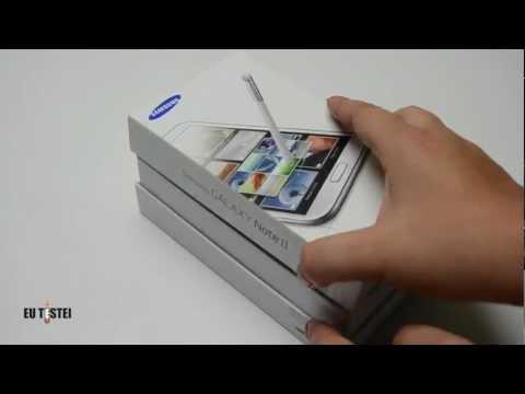 Phablet Samsung Galaxy Note II N7100 - Unboxing Brasil