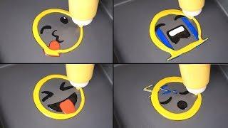 Emoji Pancake Art - Heart, Crying, Tease ya, Sleeping / satisfying Videos