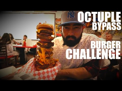 OCTUPLE BYPASS BURGER CHALLENGE | HEARTATTACK GRILL IN LAS VEGAS NEVADA