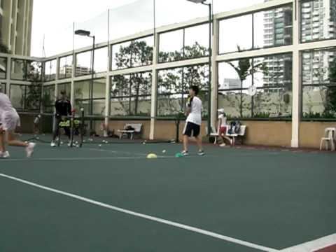 テニス ストローク練習