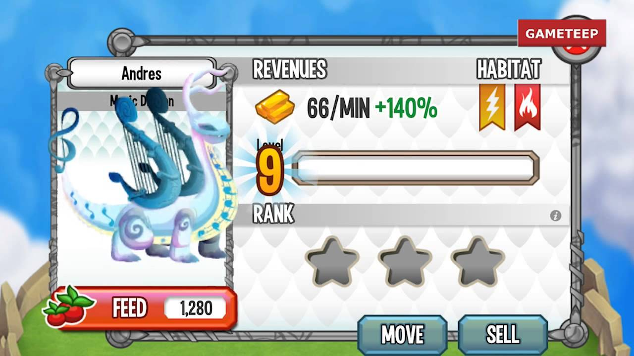 how to breed music dragon 100 real dragon city mobile