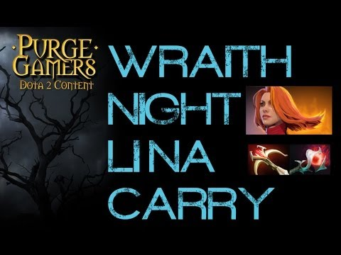 Dota 2 Purge plays Wraith-Night - Lina Carry