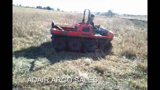 AMPHIBIOUS MUDD-OX 8X8 WITH ADAIR ARGO TRACKS TEST DRIVE2.avi