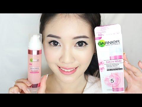 Review & แนะนำ : การใช้เซรั่มเพื่อให้ได้ประสิทธิภาพสูงสุด กับ Garnier Sakura White Serum  YuRi Ukuri