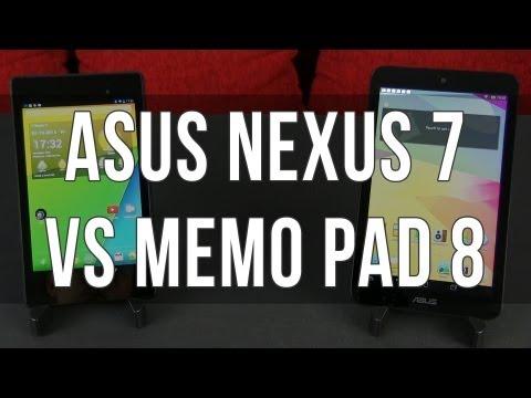 ASUS MeMO Pad 8 vs Nexus 7 2013 comparison