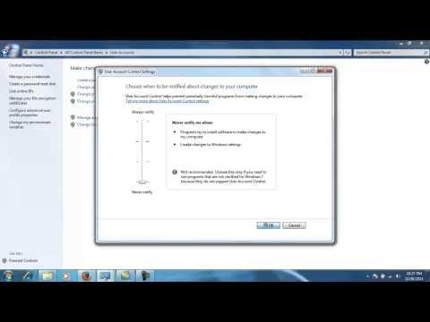 Thiết lập quyền cài đặt trên hệ điều hành Window 7, Windows 8 và Windows Vista | Windows 7 (Operating System)