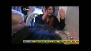 Sky News: SCUFFLE AT MEDIA HOTEL, 20110326