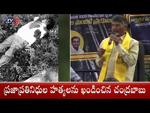 AP CM Chandrababu Naidu Responds Over Maoists Attack On AP TDP Leaders | TV5 News