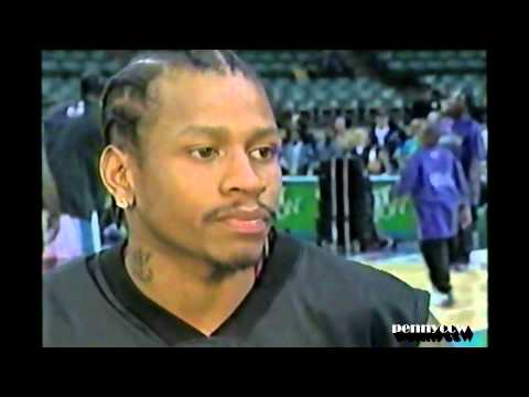 Allen Iverson's worst game in 2001 NBA Season vs the Charlotte Hornets *76ers 10-0 start ends